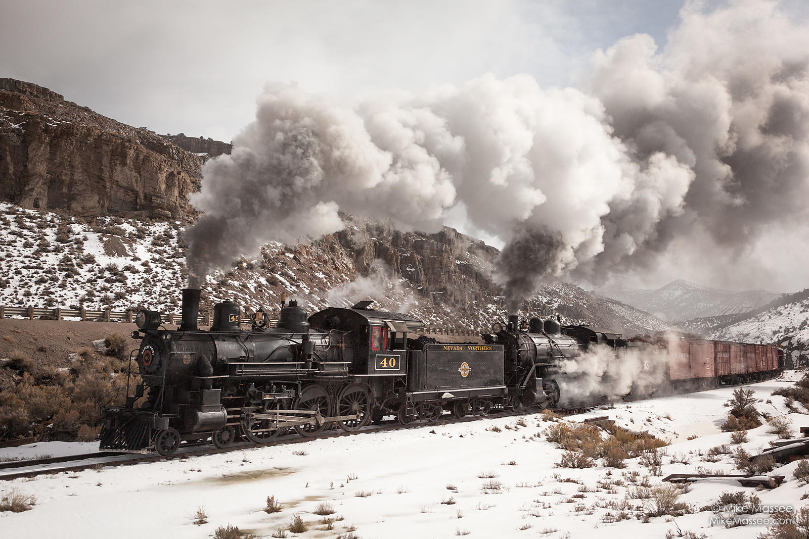 Nevada Northern Railway #40 and #93 double header