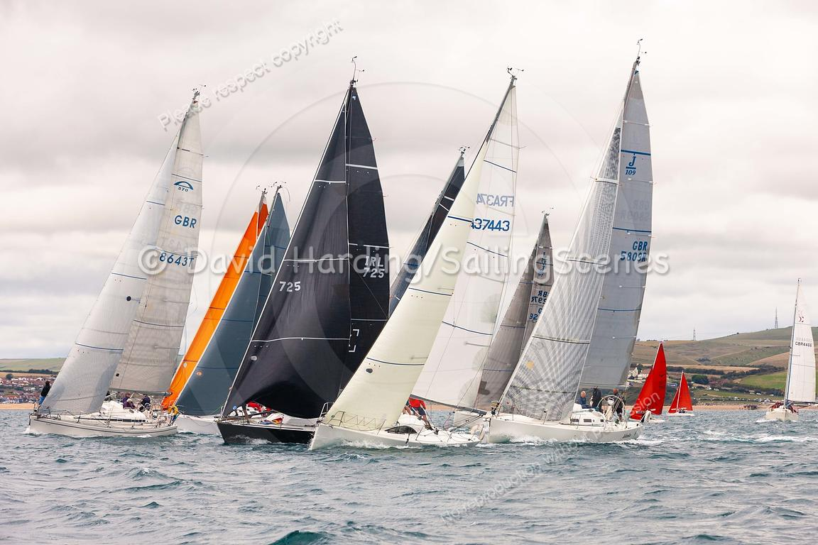 IRC 3 start, Weymouth Regatta 2018, 201809081099.