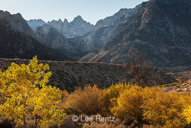 Mount Whitney from Lone Pine Campground