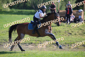 Glória Soha (HUN) and Connecticut during National Qualifier Eventing Competition, cross country, 2018 April 21 - Bábolna, Hun...