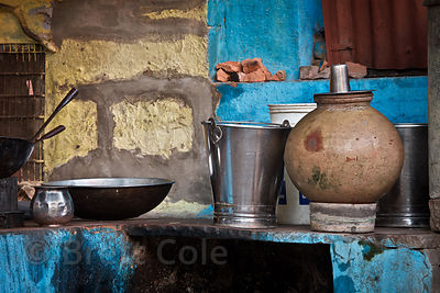 Metal and earthenware cookery, Jodhpur, Rajasthan, India