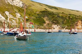 Drascombe rally in Lulworth Cove, 201707070176