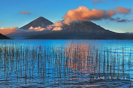Mountain impression volcanoes at Lake Atitlan - Middle America, Guatemala, Solola, Lake Atitlan, San Antonio - digital