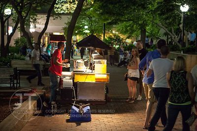 Food vendor, Ped Mall, downtown Iowa City (Justin Torner/Freelance)