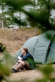 Girl camping in Denmark 4