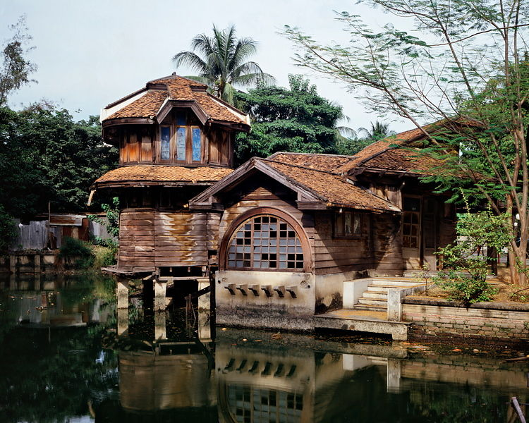 The Phra Tamnak Mekalarujee, one of buildings in Phayathai Palace, located by the pond, is a teakwood building of one and two...