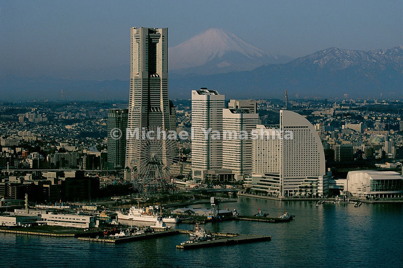 Dueling icons dominate the skyline of Yokohama, where the Landmark Tower rises as if to challenge sacred Mount Fuji. A dizzyi...