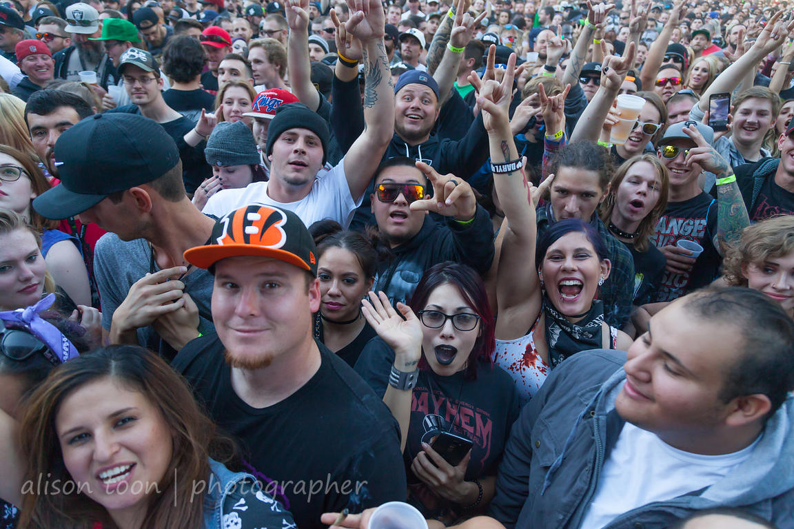 People having fun at Aftershock