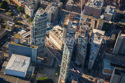 Aerial view of London, Canaletto Tower, City Road Basin.