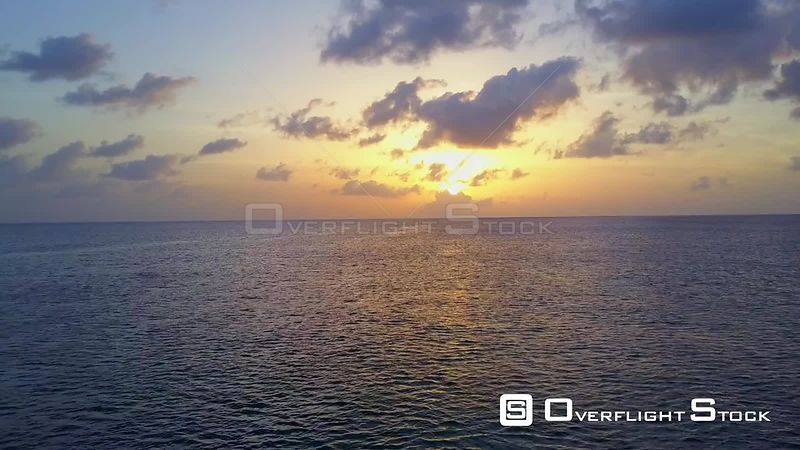 Caribbean Ocean at Sunset Cayman Islands