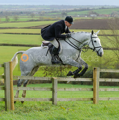 Dave Mee jumping a fence from the meet