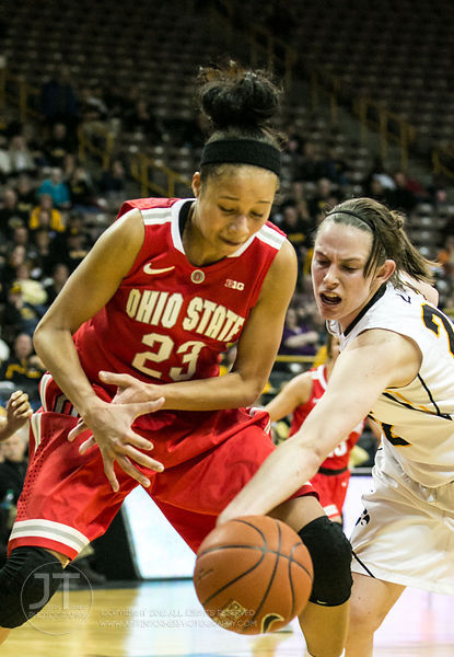 Women's Basketball 02-27-14 Iowa vs Ohio State