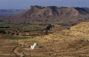 view from Douiret, Ksar hill village,  Tunisia