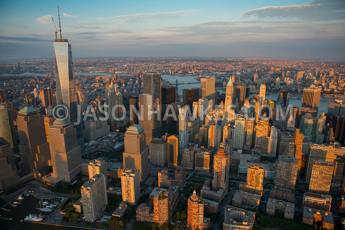 Aerial view of Lower Manhattan