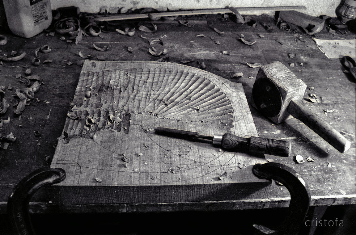 Carving wooden seats