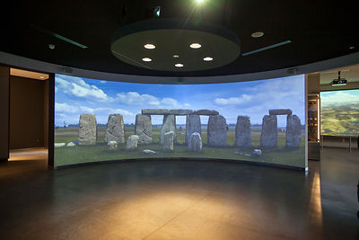 UK - Wiltshire - Details of the audio visual projection in the new Visitors Centre at Stonehenge