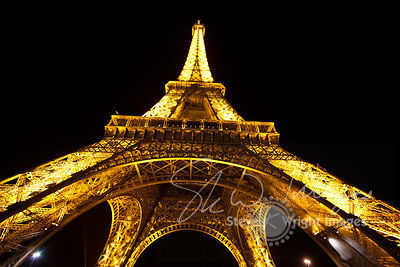 The Eiffel Tower at Night - Paris, France