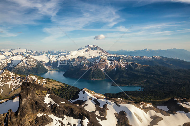 The Black Tusk and Garibaldi Lake and Mt. Garibaldi BC Canada