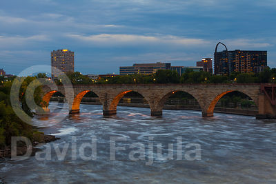 Stone Arch Bridge at dusk