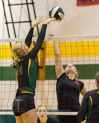 Iowa City High vs Dubuque Hempstead Volleyball, MVC Tournament October 13, 2012