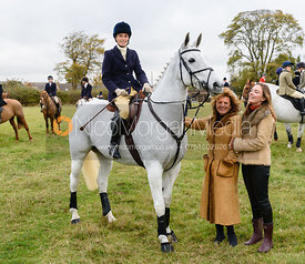 Lady Alice Manners, Duchess of Rutland, Lady Eliza Manners at Belvoir Hunt Opening Meet 2018