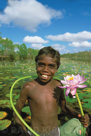 Aboriginal child on Northern Territory Billabong