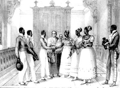 19th-century wedding of wealthy black Brazilian couple
