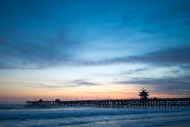 Orange County Pier San Clemente Sunset Photo