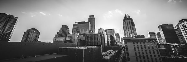 Austin Texas Black and White Panorama