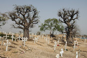 Cemetery, Fadiout island composed of shells, Petit Côte, Senegal