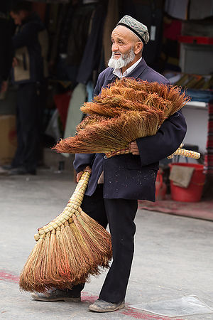 The Broom Seller. Kashgar