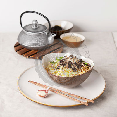 Asian noodles with Oyster mushrooms