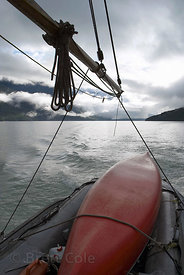 Sailing through the fjords of the Great Bear Rainforest, British Columbia