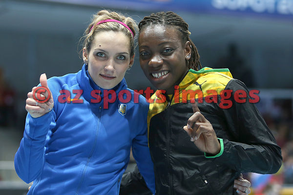 Olha Saladuha (UKR), Kimberley Williams (JAM)