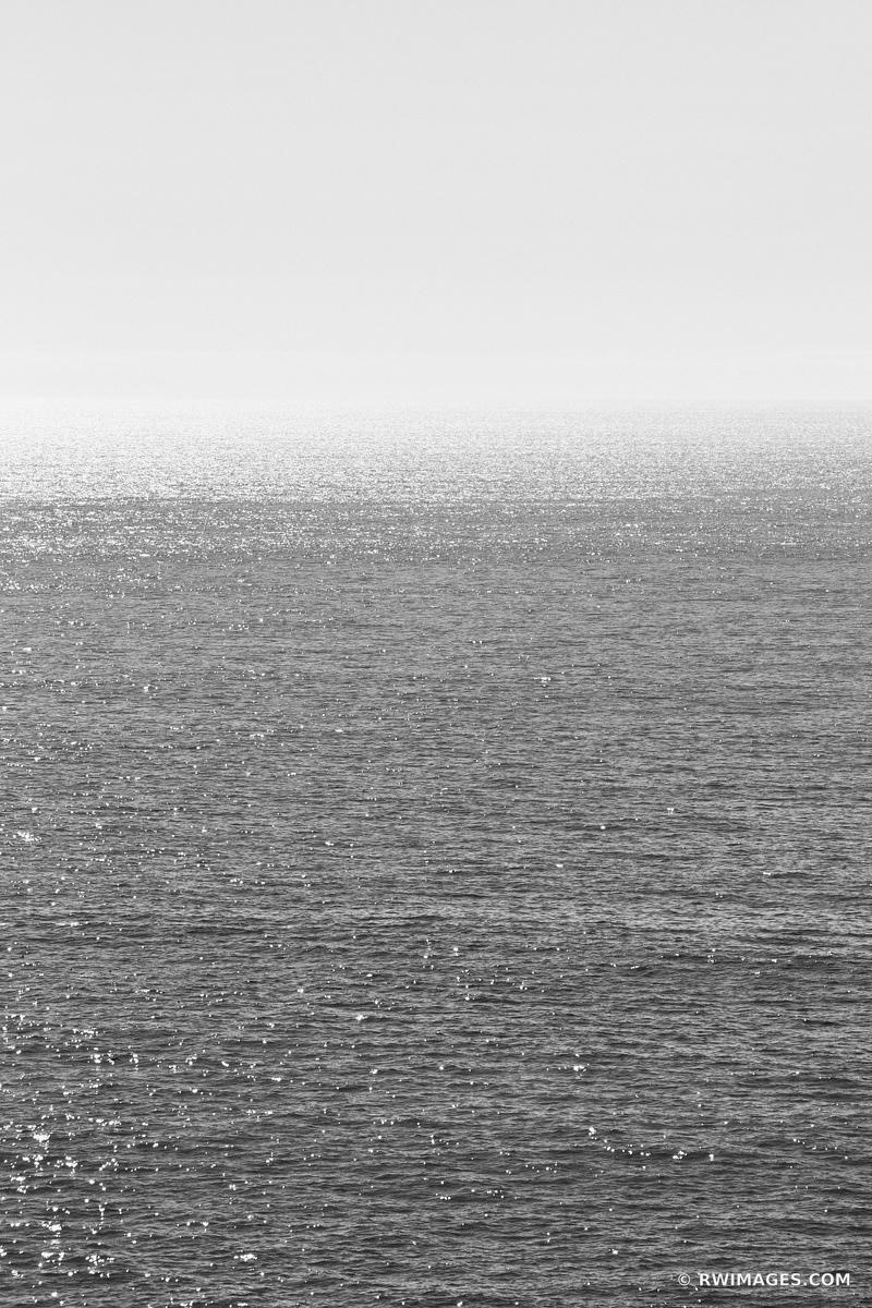 PACIFIC OCEAN SONOMA COAST CALIFORNIA BLACK AND WHITE