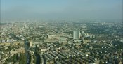 London Aerial Footage of West Kensington towards Earls Court.