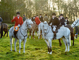 Tom Kingston, Will Cursham At the meet. The Belvoir Hunt meet at Waltham House 22/12