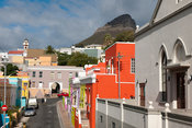 Chiappini Street with Lion's Head  in the background, Bo-Kaap, Cape Town, South Africa