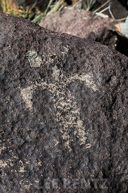 Rock Art Showing Human Figure at Three Rivers Petroglyph Site