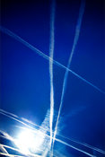 Contrails over Oxfordshire, UK