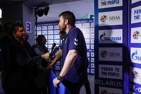Players during the Final Tournament - Final Four - SEHA - Gazprom league, Media meeting in Brest, Belarus, 08.04.2017, Mandat...