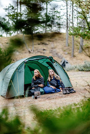 Two girls camping in Denmark 4
