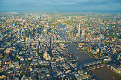 City of London, aerial view.
