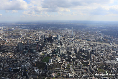 aerial photograph of  London UK