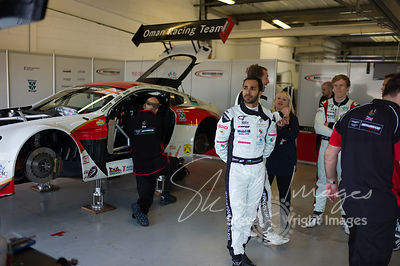 Race winner Ahmad Al Harthy, in the pit lane pre-race with the Oman Racing Team, at the Silverstone 500 - the third round of ...