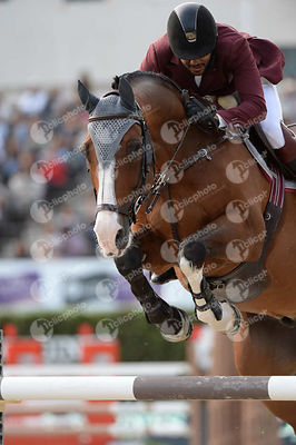Bassem Hassan MOHAMMED ,(QAT), THE TOYMAKER during Longines Cup of the City of Barcelona competition at CSIO5* Barcelona at R...