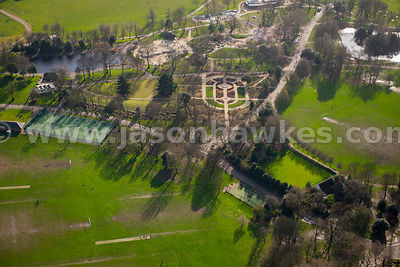 Aerial view of Victoria Park, East London
