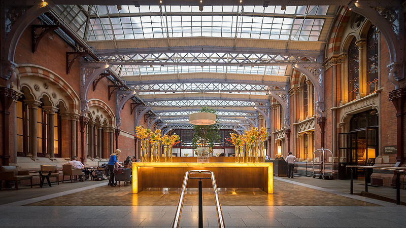 St Pancras Station Hotel Reception & Atrium