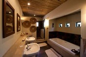 Bathroom, Mashatu Camp, Mashatu Game Reserve, Tuli Block, Botswana