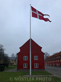 Dannebrog waves over Kastellet